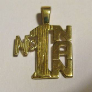 9ct Gold Number 1 Nan Pendant 1g